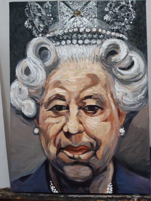 The Queen. (Style of Lucien Freud)